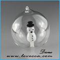 Sur mesure disponible bricolage. belle bonhomme de neige en verre transparent boules de noël en gros