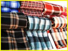 2014 new 100% polyester fashion check printed designs polar fleece blankets