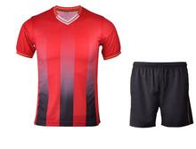 Hot sales factory directly design 100%polyester sublimation soccer uniform set