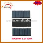 80X25MM 5.5V 90mA Mini Solar Panels High Efficiency