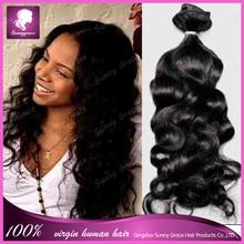 Fabricante de negro de las muchachas Remy de la virgen extensiones de cabello Funmi pelo huevo Curl