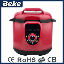 Computer controlled large electric pressure cooker red