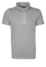 turtleneck summer shirt with short sleeve and pocket