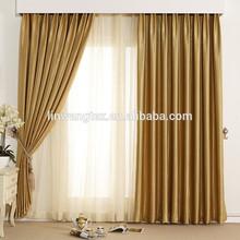 elegant popular one side bright silk luxury hotel curtains
