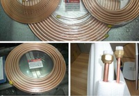 Pancake Coil Copper Tube / Pipes Air & C10100 C10200 air conditioner copper pipe