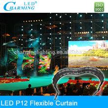 led curtain/flexible led screen/soft led curtain display