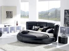 replica designer furniture genuine leather round bed