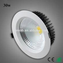 High quality 120 degree 30w cob led downlight case