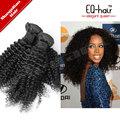 Nuevos productos 2014 de la virgen rizado rizado clip en extensiones de cabello