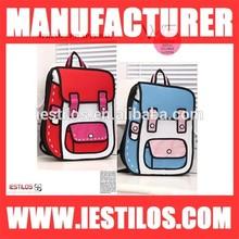 Hot sale fashionable 2d cartoon canvas satchel backpack bag designer handbag
