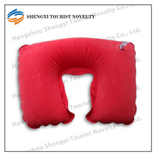 Elegant promotional fashion u-shaped inflatable neck pillow