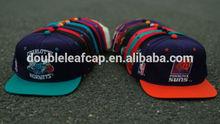 Mens custom embroider hip hop snap back hats/snap back supplier