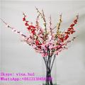 flores artificiais de seda pêssego ramo de flores de pêssego