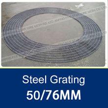 Galvanized Irregular Steel Grating With 50/76MM Pitch