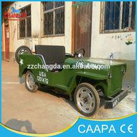 Hot selling amusement kiddie manual ride mini jeep go kart for sale