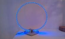 Blue light LED ring table lamp