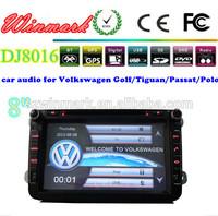 8inch 2 DIN Car DVD radio player for Volkswagen Polo Golf Passat Touran Tiguan GPS navigation DJ8015