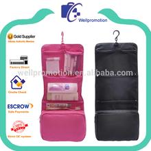 Wellpromotion fashion cheap foldable nylon travel toiletries bag