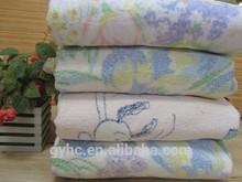 wholesale china heat printed cotton blanket