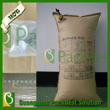 De papel kraft de aire para estiba bolsa de vacío de llenado de contenedores/bolsa de estiba