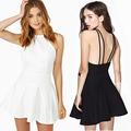 Backless Sexy clube das mulheres Sling Strap voltar de skate Mini Cocktail Dresses plus size SV003321