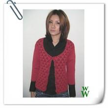 Crochet women 12GG Rayon knitted sweater