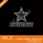 Rhinestone cowboy and blue star iron on transfer design wholesale