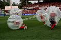 Estrella descabellado pvc bola de la burbuja/burbuja de fútbol/descabellado el partido de fútbol inflable