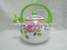 3.5L flower pattern coating enamel tea kettle
