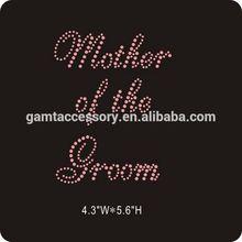 Mother of the Groom hot fix Rhinestone heat Transfer