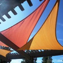 Triangle sunsail uv HDPE 137*137*137inch car sail swimming pool sun shading