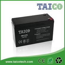 Rechargeable sealed lead acid 12v 7ah 20hr ups battery