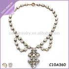 hot sale Korea collar jewelry luxury rhinestone turn up chain necklace