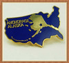 Wholesale 2014 New Custom Metal Vintage Anchorage Alaska Tie Tack Lapel Pin Enamel Dark Blue Birthday Fathers Day Tiepin