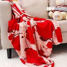 Coral Fleece/Coral Velvet Blanket Cozy Warm High Quality Coverlet Quilt