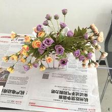 mini yellow rose Import China silk flowers