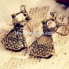 Antique Silver Zinc Alloy Lady's Dress Earrings