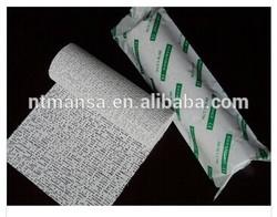 Medical POP bandage,white,100% cotton gauze,Water permeable,rapid hardening