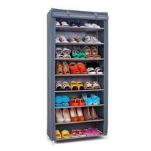 SW Wardrobe Closet Storage Organizer Hanger Clothes Rack Shoe Standing Portable Fashion non-woven commercial shoe racks