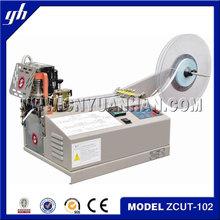 woven label cut and fold machine/automatic fabric cutting machine