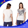 Short sleeve cotton tight screen t shirt printing for girls wholesale