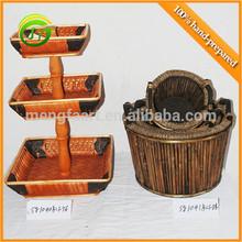 Multi-layer high quality wicker handicraft decoration baskets