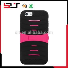 Rugged heavy duty hard shockproof kickstand tpu case for iphone6