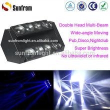 New Design Nightclub Lighting 8Head Moving Heads Beam Led DJ Light