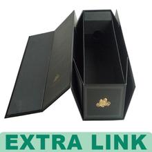 Custom Black Folded Special Paper Cardboard Wine Gift Box