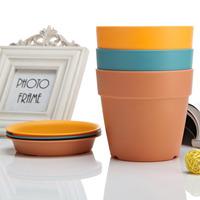 Garden Round cheap plastic angle flower pots