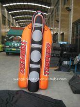 Popular 3 person water ski board inflatable banana shape boat