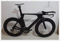 Complete Time Trial bike AERO triathlon bicycle 3K Matt/glossy black finished road bike with 11 speed group