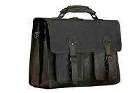 Kattee's 16inch Excellent Crazy Horse Leather Men's Messenger/Laptop Bags #XZ363