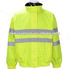polar fleece lining safety high visibility jacket